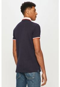 Niebieska koszulka polo Trussardi Jeans z aplikacjami, krótka, na co dzień, polo