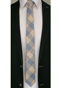 Modny i Elegancki Krawat Alties - Beżowa Kratka. Kolor: beżowy, brązowy, wielokolorowy. Materiał: tkanina. Wzór: kratka. Styl: elegancki