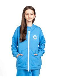 ROBERT KUPISZ - Niebieska bluza Kids White Bull. Typ kołnierza: kaptur. Kolor: niebieski. Materiał: materiał. Wzór: nadruk