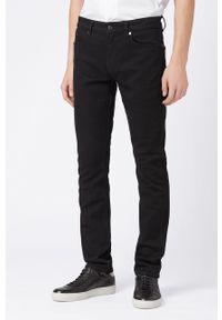 Czarne jeansy BOSS gładkie