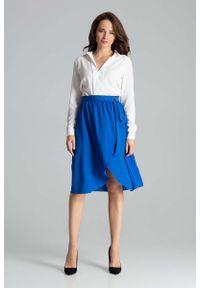 Niebieska spódnica rozkloszowana Katrus