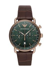 Brązowy zegarek Emporio Armani