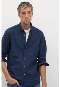 Niebieska koszula Mango Man button down, długa
