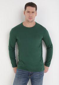 Born2be - Ciemnozielona Bluzka Ideld. Kolor: zielony. Materiał: dzianina. Długość rękawa: długi rękaw. Wzór: jednolity. Styl: klasyczny