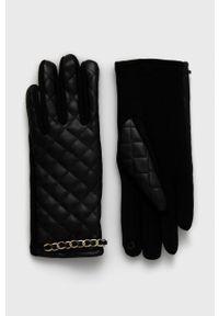 Aldo - Rękawiczki OLIRAWEN. Kolor: czarny. Materiał: materiał