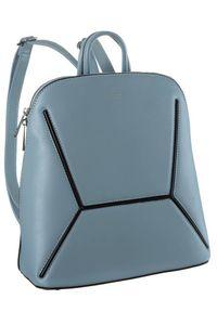 DAVID JONES - Plecak damski j. niebieski David Jones 6261-2 L.BLUE. Kolor: niebieski. Materiał: skóra ekologiczna