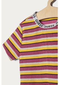 Wielokolorowa sukienka Guess dopasowana, z krótkim rękawem