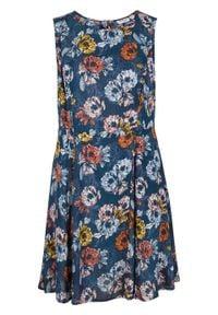 Sukienka z nadrukiem bonprix ciemnoniebieski z nadrukiem. Kolor: niebieski. Wzór: nadruk