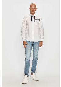 Biała koszula Desigual długa, z klasycznym kołnierzykiem