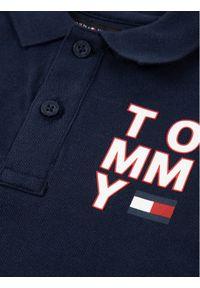 Niebieski t-shirt polo TOMMY HILFIGER polo