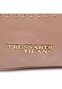 Różowa torebka worek Trussardi Jeans