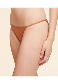 Alpha Majtki Bikini - 40 - Ochra - Etam. Kolor: pomarańczowy. Wzór: paski