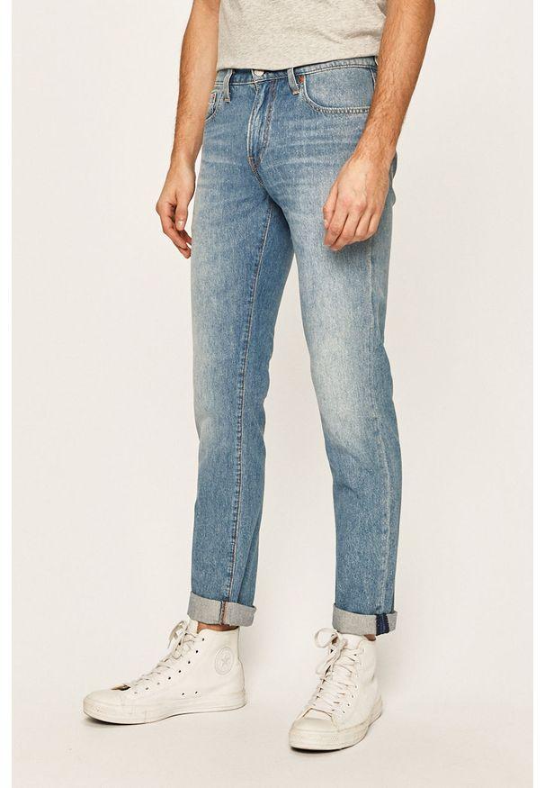 Niebieskie jeansy Levi's® z aplikacjami, biznesowe, na spotkanie biznesowe