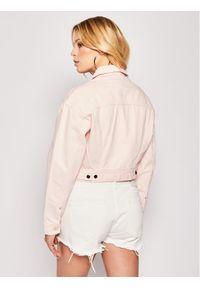 Lee Kurtka jeansowa Cropped L54QKGNA Różowy Regular Fit. Kolor: różowy. Materiał: jeans