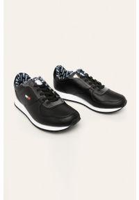 Czarne sneakersy Tommy Jeans z okrągłym noskiem, z cholewką, na sznurówki #5