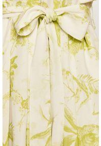AllSaints - Sukienka. Kolor: żółty. Materiał: tkanina. Długość rękawa: krótki rękaw