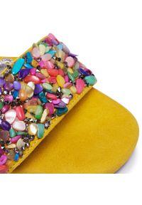 Żółte sandały R.Polański z aplikacjami