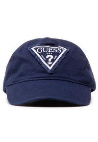 Guess - Czapka z daszkiem GUESS - Used Triangle Cap M1RZ58 WBN60 G77G. Kolor: niebieski. Materiał: materiał, bawełna