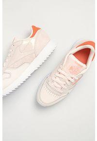 Reebok Classic - Buty skórzane CL Lthr Ripple. Nosek buta: okrągły. Zapięcie: sznurówki. Kolor: beżowy. Materiał: skóra. Model: Reebok Classic