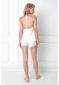 Biała piżama Aruelle ze splotem