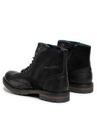 Czarne buty zimowe Bugatti z cholewką, eleganckie