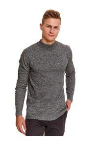 Szary sweter TOP SECRET długi, z długim rękawem