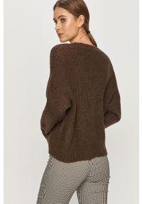 Brązowy sweter Jacqueline de Yong na co dzień, casualowy, długi