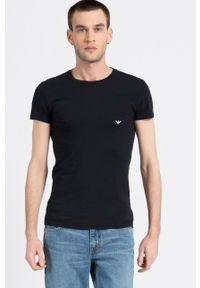 Emporio Armani Underwear - T-shirt. Kolor: czarny. Materiał: dzianina. Wzór: gładki