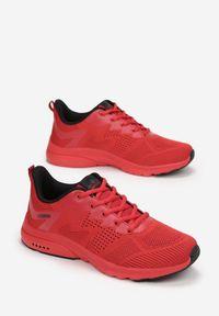Born2be - Czerwono-Czarne Buty Sportowe Ianamisia. Kolor: czerwony