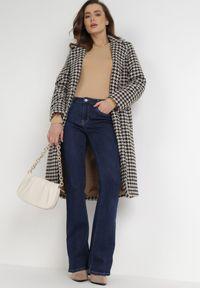 Born2be - Beżowe Body Maerane. Kolor: beżowy. Materiał: jeans. Długość rękawa: długi rękaw. Długość: długie. Styl: klasyczny