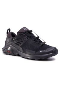 Czarne buty trekkingowe salomon Gore-Tex, z cholewką