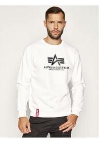 Alpha Industries Bluza Basic 178302 Biały Regular Fit. Kolor: biały