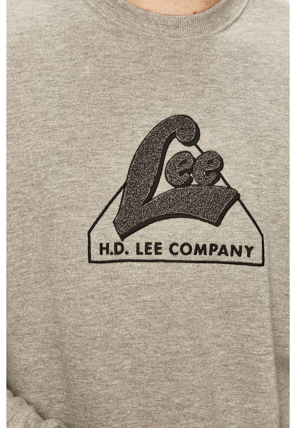 Szara bluza nierozpinana Lee z aplikacjami, na co dzień, casualowa