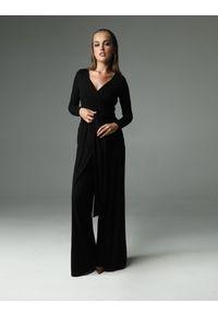 Czarny kombinezon długi, elegancki