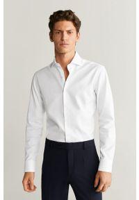 Biała koszula Mango Man z włoskim kołnierzykiem, elegancka