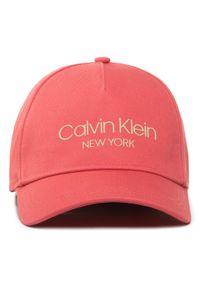 Calvin Klein - Czapka z daszkiem CALVIN KLEIN - Ck Ny Bb Cap K60K606381 XA4. Kolor: różowy. Materiał: materiał, bawełna