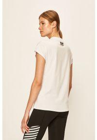 Biała bluzka Hummel z nadrukiem, na co dzień, casualowa