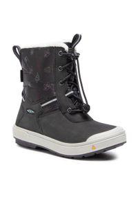 Czarne buty zimowe keen z cholewką, na spacer