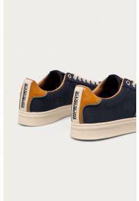 Napapijri - Tenisówki. Nosek buta: okrągły. Zapięcie: sznurówki. Kolor: niebieski. Materiał: guma