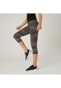 NYAMBA - Legginsy 7/8 fitness. Kolor: fioletowy. Materiał: elastan, poliamid, bawełna, materiał. Sport: fitness