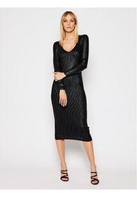 Czarna sukienka TwinSet na co dzień, casualowa, prosta