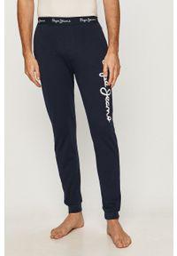 Pepe Jeans - Spodnie piżamowe Bard. Kolor: niebieski. Wzór: nadruk