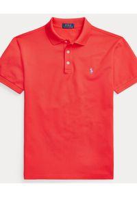 Czerwone polo z krótkim rękawem Ralph Lauren ze splotem, polo, sportowe