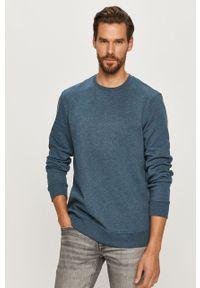 Niebieska bluza nierozpinana Only & Sons melanż, na co dzień