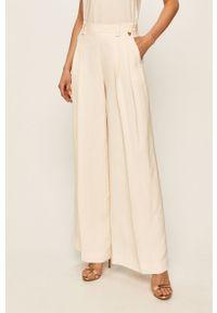 Kremowe spodnie materiałowe TwinSet