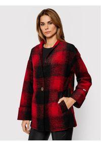 Czerwony płaszcz przejściowy Tommy Jeans