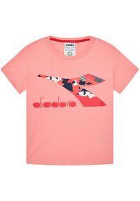 Różowy t-shirt Diadora