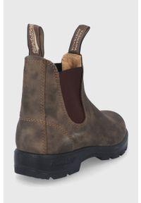 Blundstone - Sztyblety skórzane 585. Nosek buta: okrągły. Kolor: brązowy. Materiał: skóra