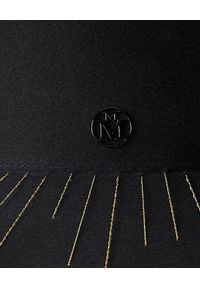 MAISON MICHEL PARIS - Czarny kapelusz Kate ze zdobieniami. Kolor: czarny. Wzór: aplikacja