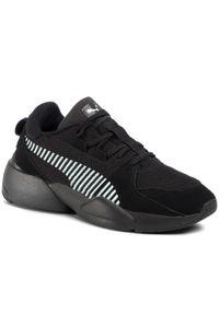 Czarne sneakersy Puma z cholewką, na co dzień, Puma Suede